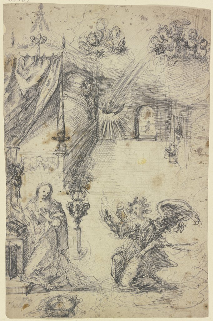 The Annunciation, southern German, 16th century