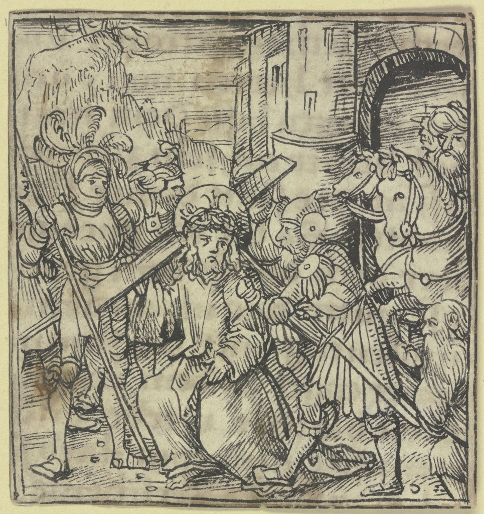 Bearing of the cross, German, 16th century