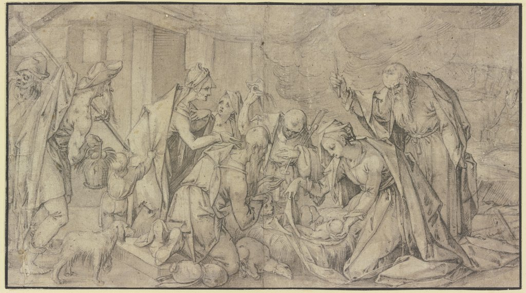 Adoration of the shepherds, Hans von Aachen   ?