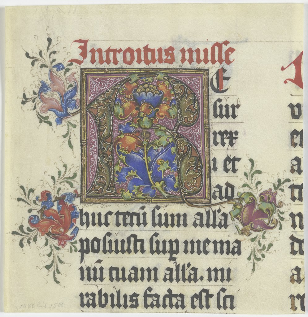 Initial R, German, 15th century