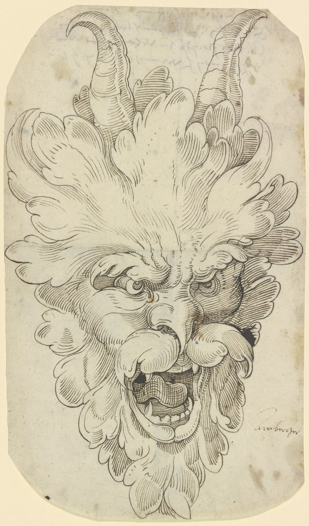 Satyr-like leaf mask, Christoph Amberger   ?