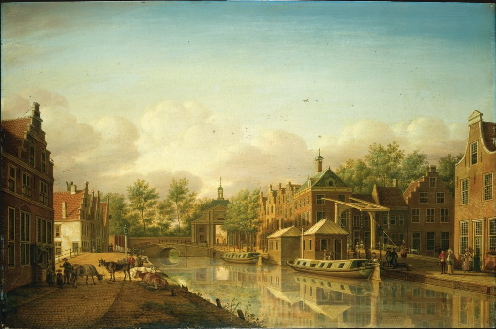 The Haarlem Gate in Leyden as Seen From the City, Paulus Constantijn la Fargue