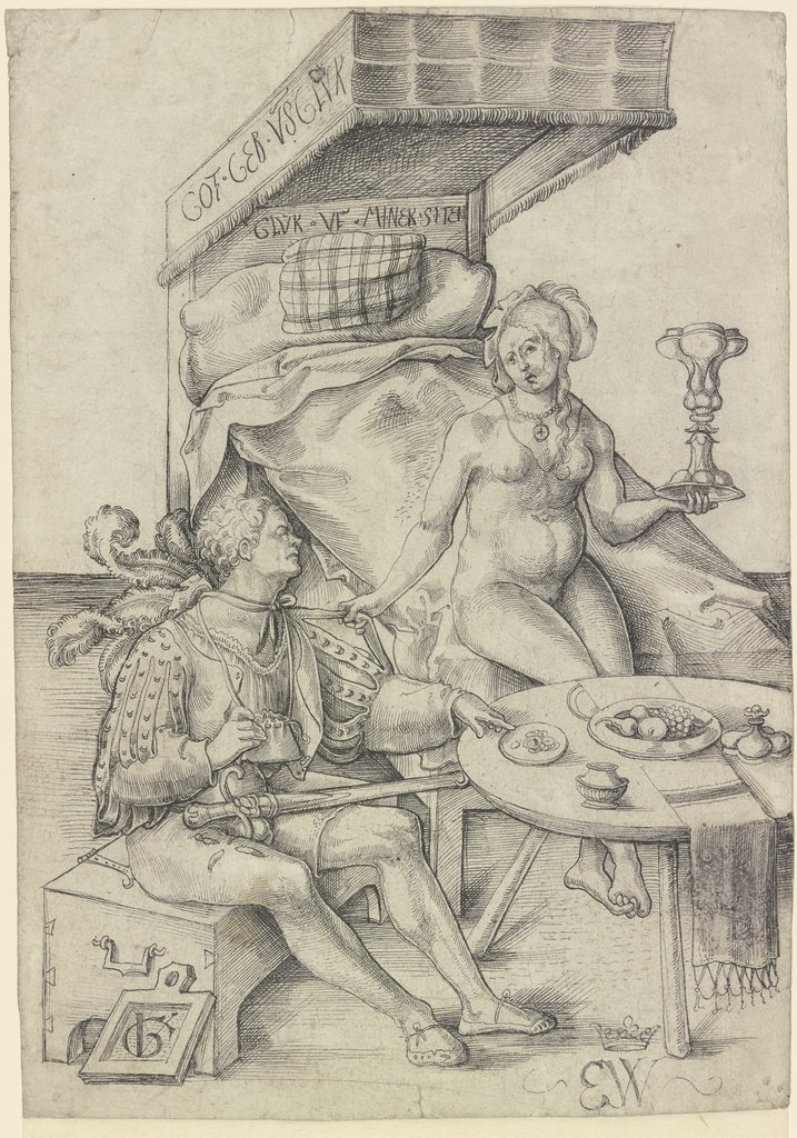 Swiss mercenary with a prostitute, Urs Graf the Elder