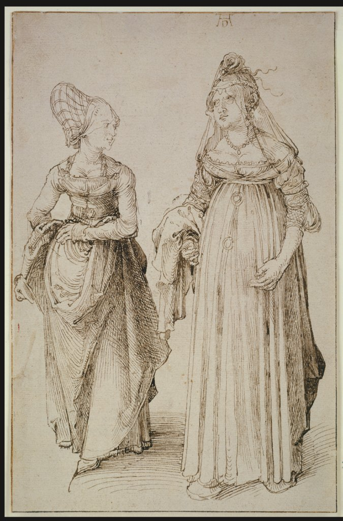 A Lady from Nuremberg and a Lady from Venice, Albrecht Dürer
