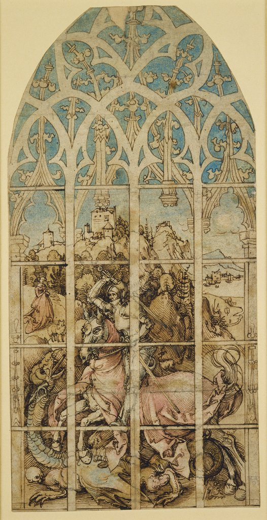 Sketch for a Glass Painting with St George, Albrecht Dürer