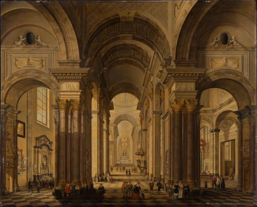 Interior of a Baroque Church, Johann Ludwig Ernst Morgenstern