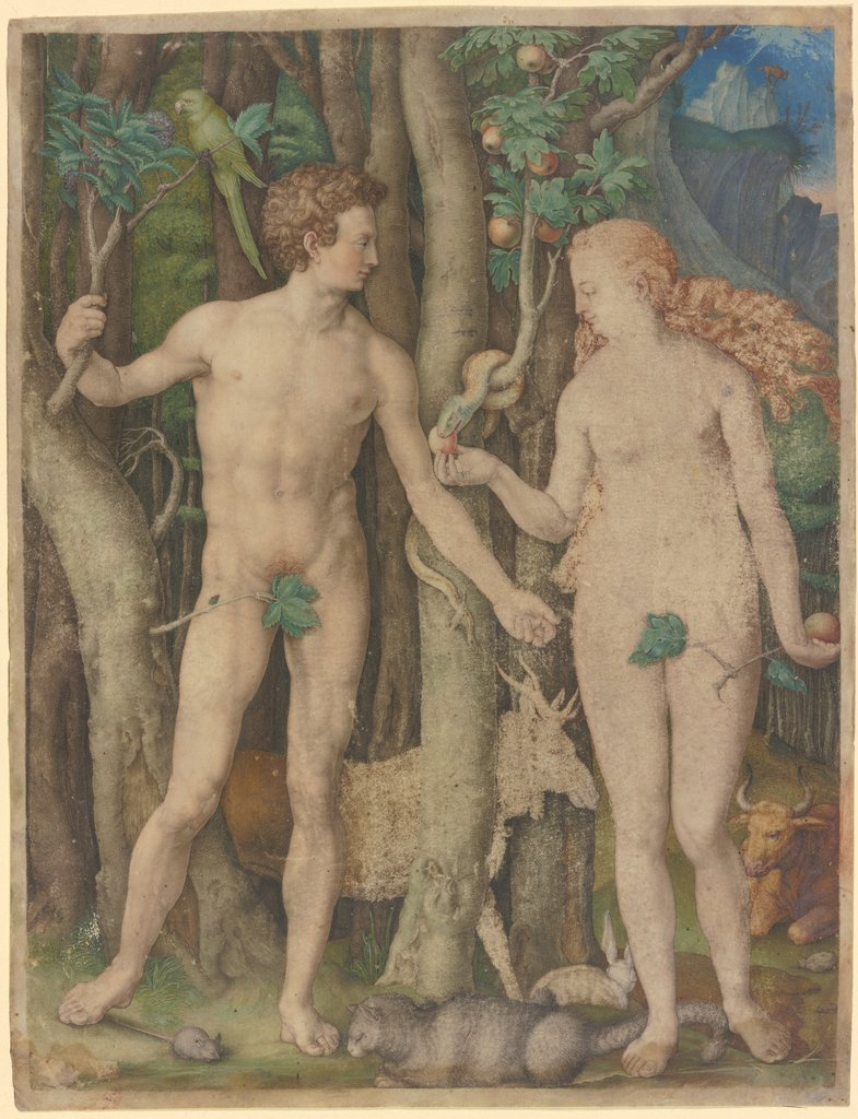 Adam and Eve, German, 16th century, nach Albrecht Dürer