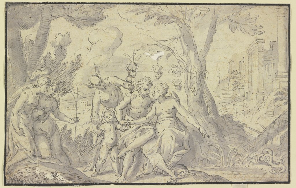 Allegory of love, German, 16th century, nach Georg Beham
