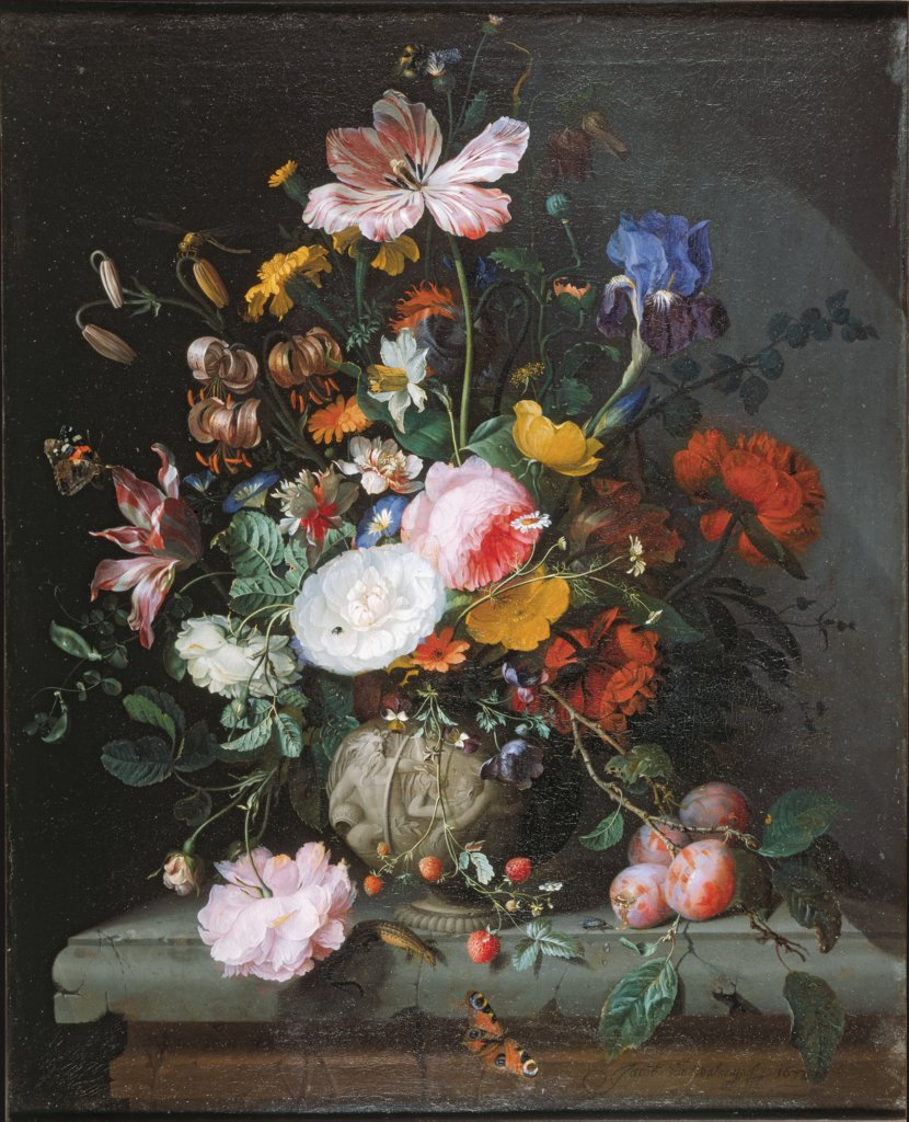 Still Life with Bouquet of Flowers, Jacob van Walscapelle