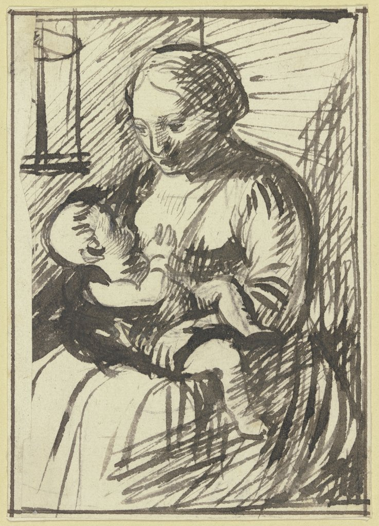 Breast-feeding Mary, Hendrik Goudt