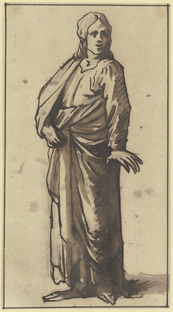 Male garbed figure, Hendrik Goudt