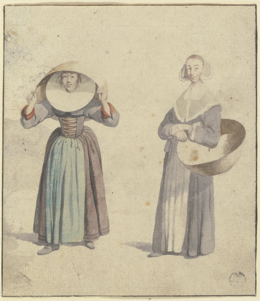 Two traditional woman's costumes, Wenceslaus Hollar   ?