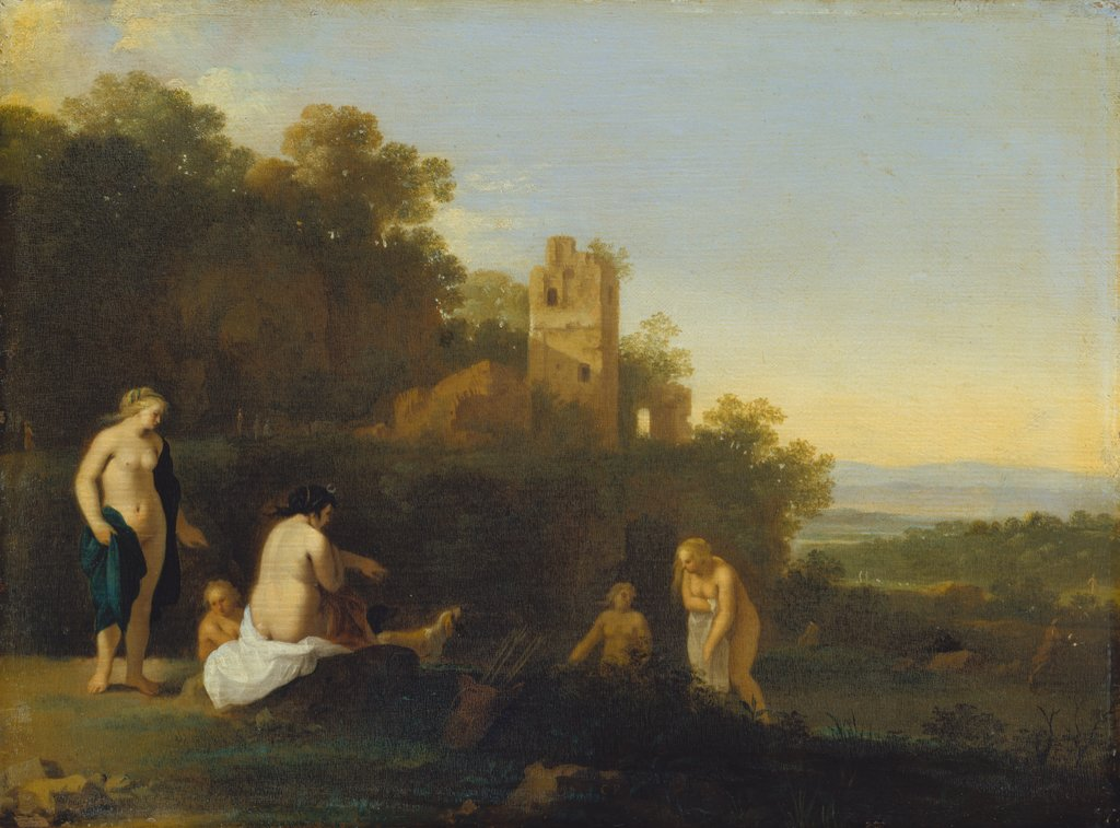 Landscape with the Discovery of Callisto's Pregnancy, Cornelis van Poelenburch  Werkstatt