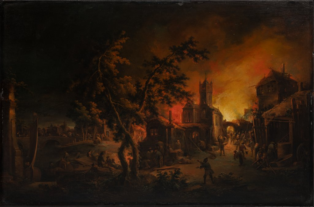 Conflagration at Night, Johann Georg Trautmann