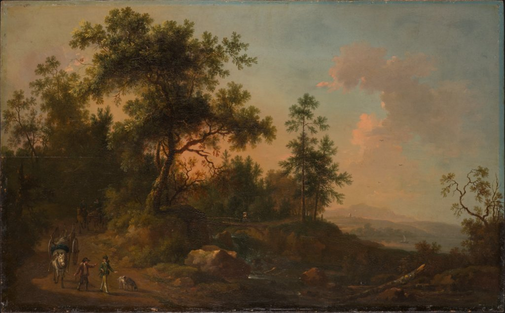 A Horsecart Leaving a Forest, Friedrich Wilhelm Hirt