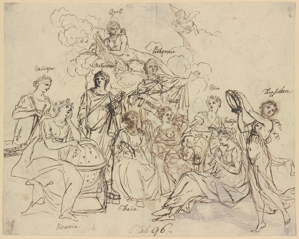Apoll and the muses, Daniel Chodowiecki
