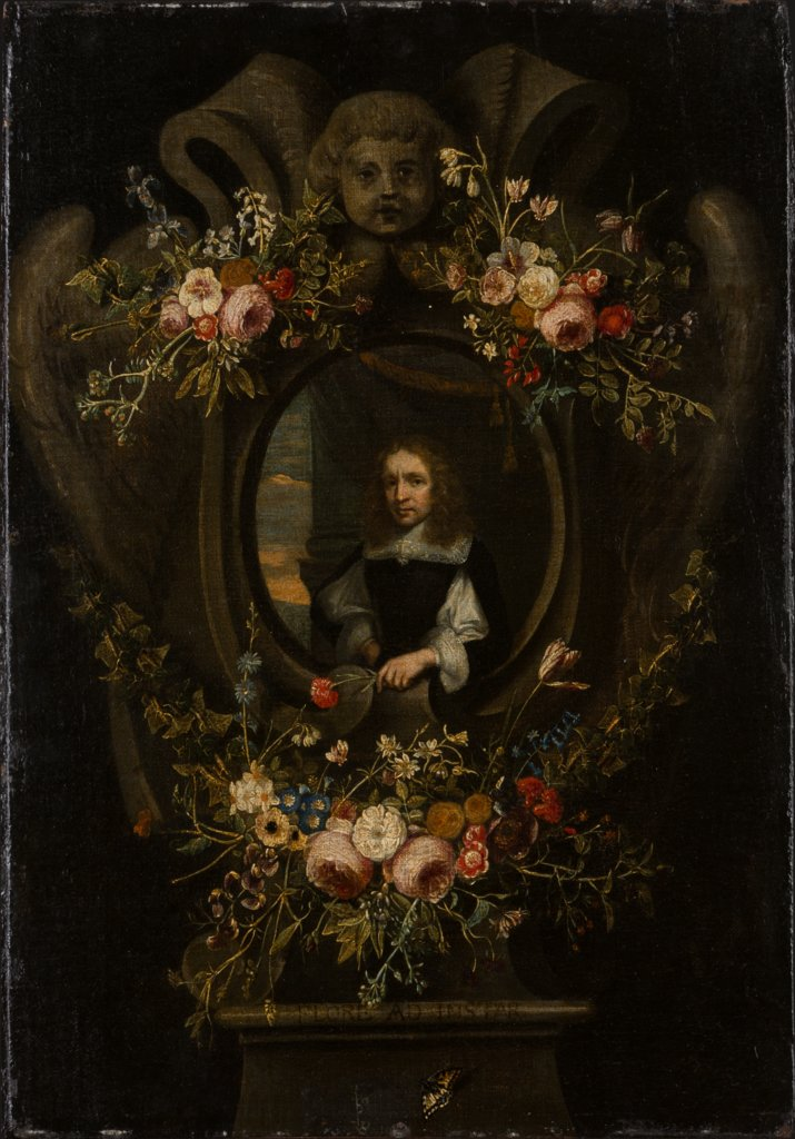 Portrait of a Man Wreathed by Flowers, Flemish Master