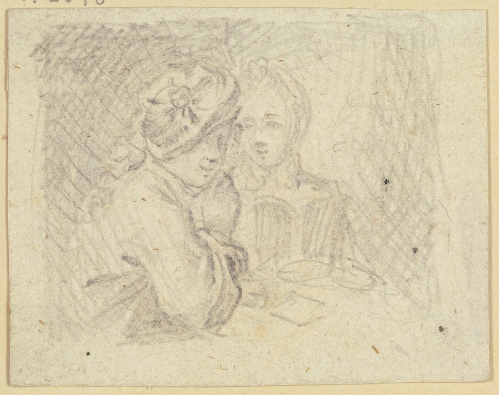 Young couple at a table, Daniel Chodowiecki