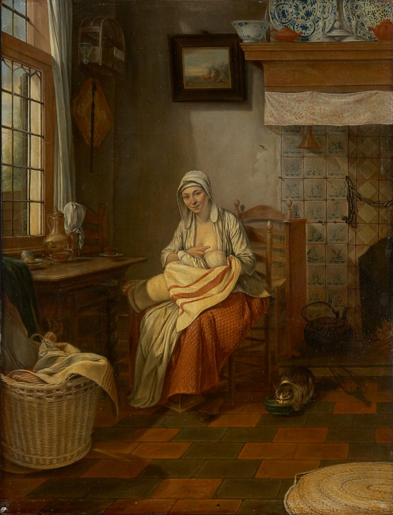 Interior with Nursing Mother, Gerrit Zegelaar