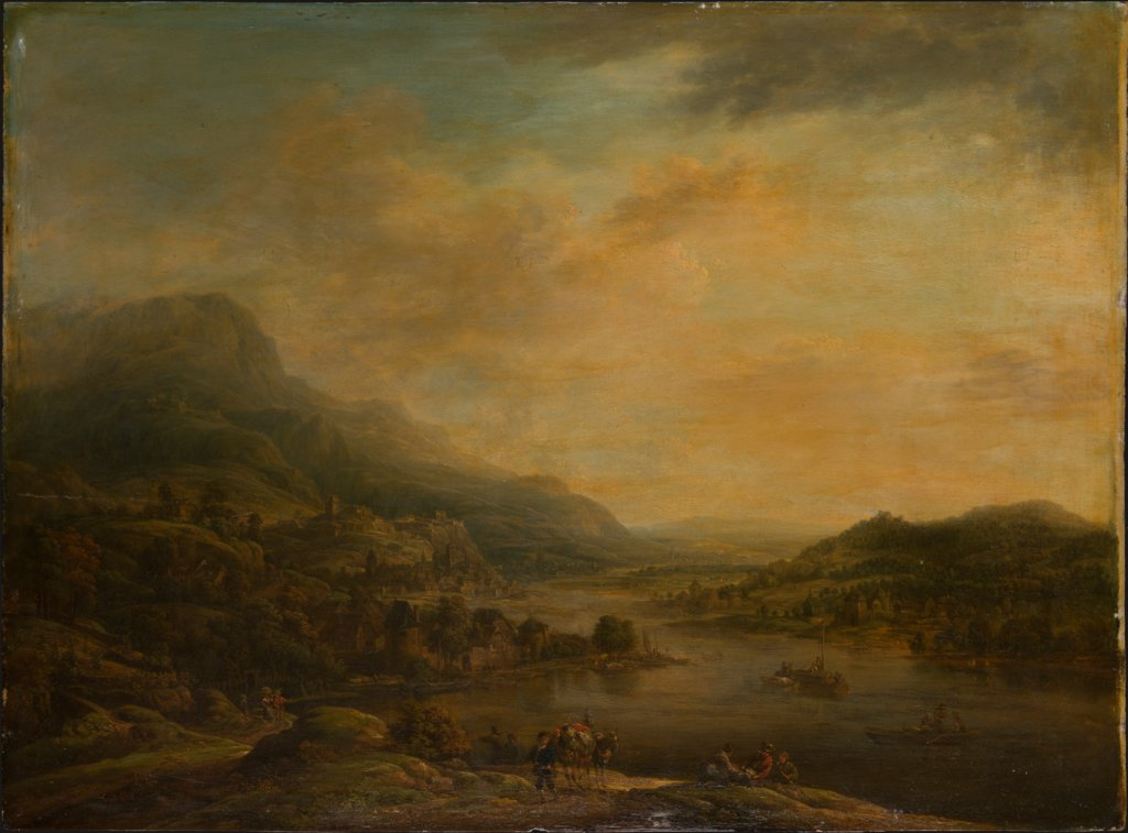 River Landscape with Mule Drover, Christian Georg Schütz the Elder