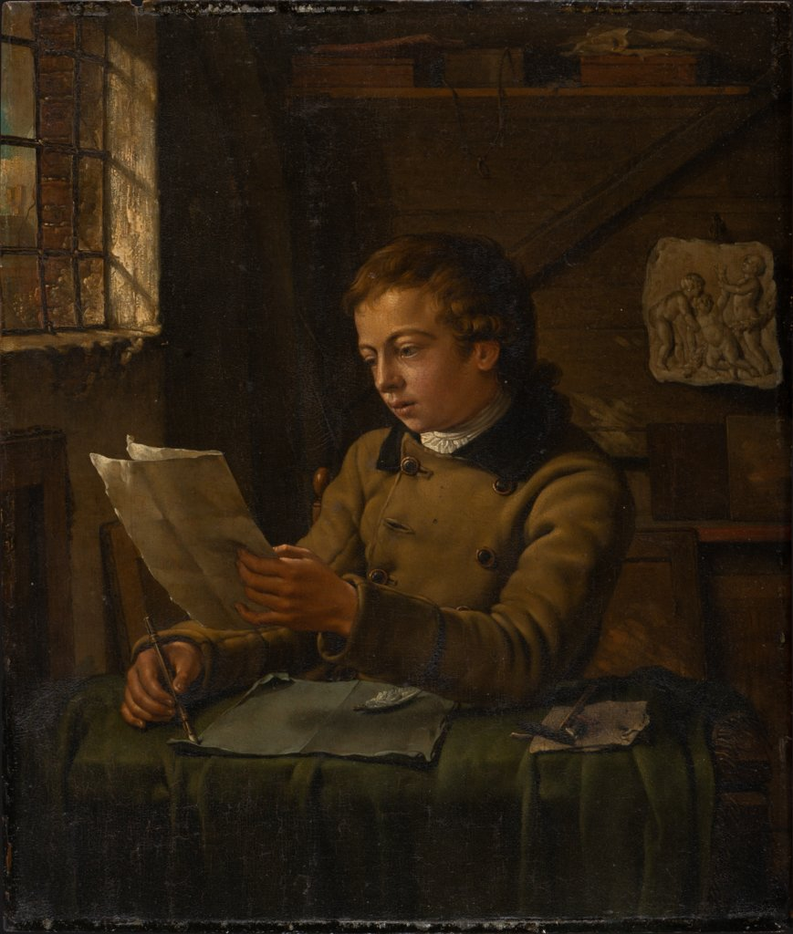 A Young Draughtsman at Work in His Studio, Jan Ekels the Younger