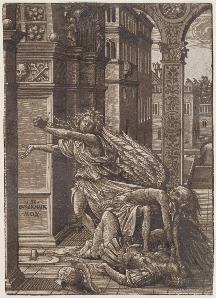 Lovers surprised by death, Hans Burgkmair