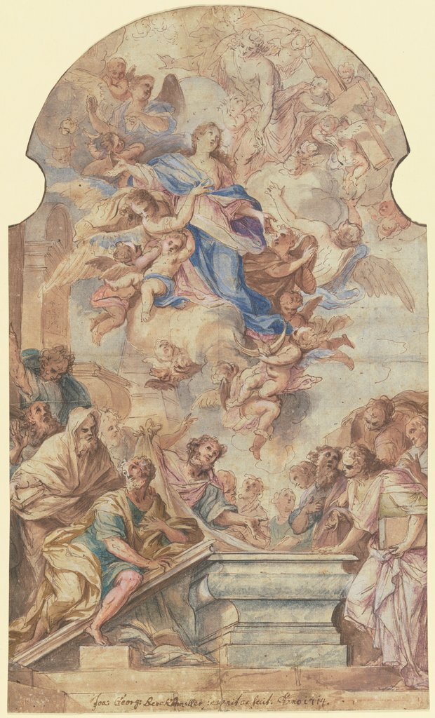 Assumption of the Virgin, Johann Georg Bergmüller