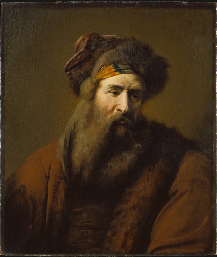 Head of a Bearded Man in Oriental Costume, Arie de Vois