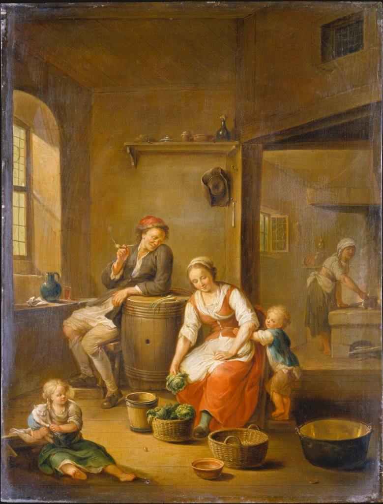 A Peasant Family at Home, Johann Andreas Herrlein