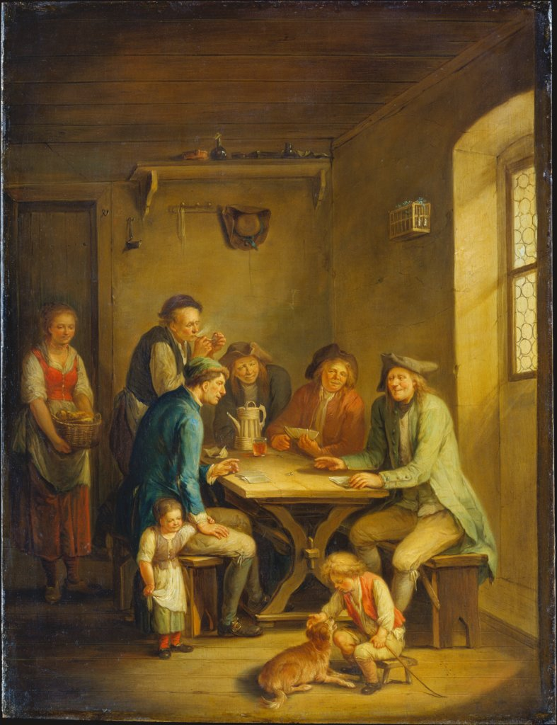 Peasants Playing Cards, Johann Andreas Herrlein