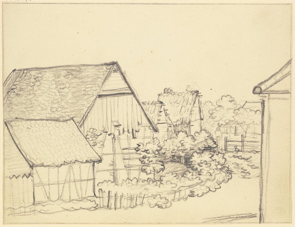 Group of farmhouses, Friedrich Wilhelm Hirt