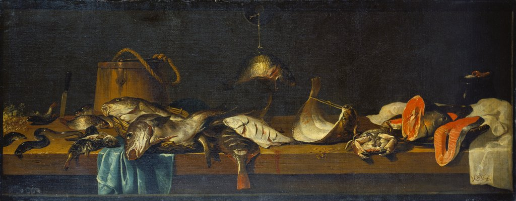 Still Life with Fish on a Vending Counter, Jacob Foppens van Es