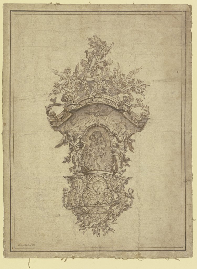 Design for a pulpit, Josef Herscher