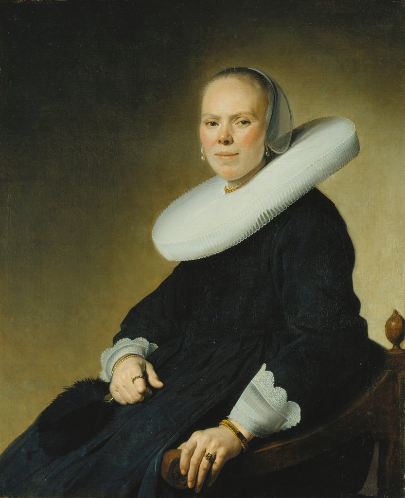 Portrait of a Woman in an Armchair, Jan Cornelisz. Verspronck