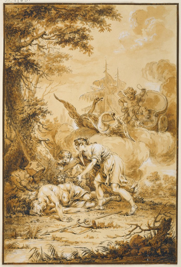 Venus and Adonis, Januarius Zick