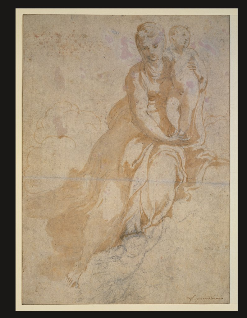 Study of the Madonna and Child, Parmigianino