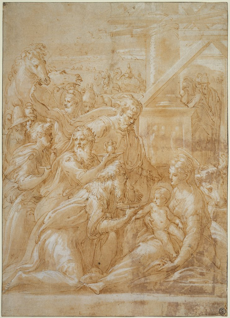 The Adoration of the Magi, Parmigianino