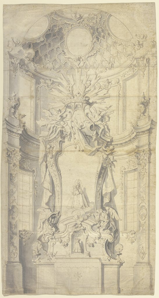 Sketch of an altar, Johann Baptist Zimmermann