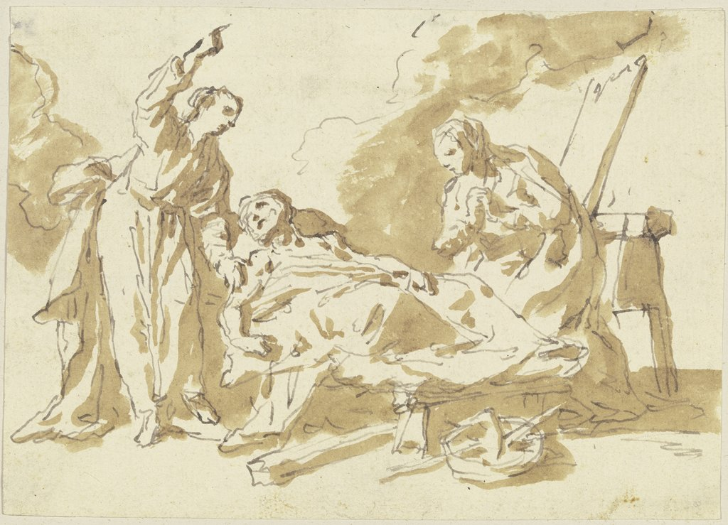 Death scene, southern German, 18th century