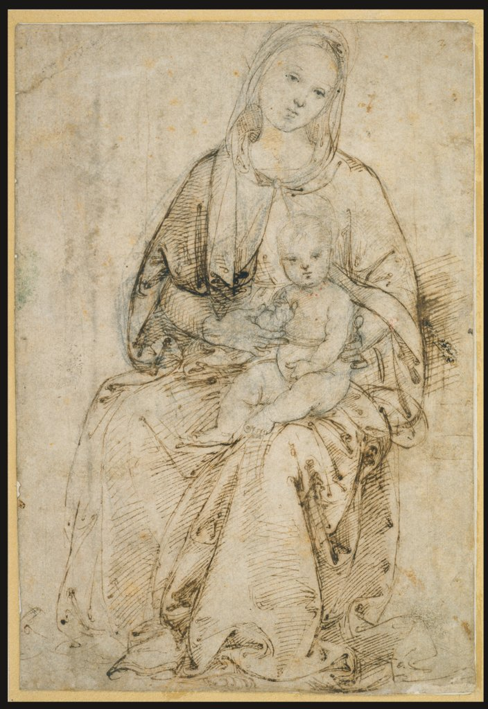 Seated Madonna and Child, Raphael