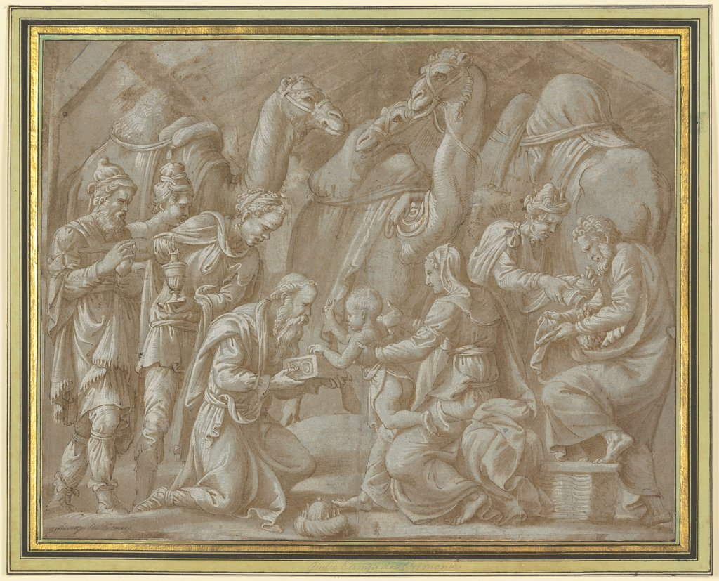 Adoration of the kings, Giulio Romano  workshop