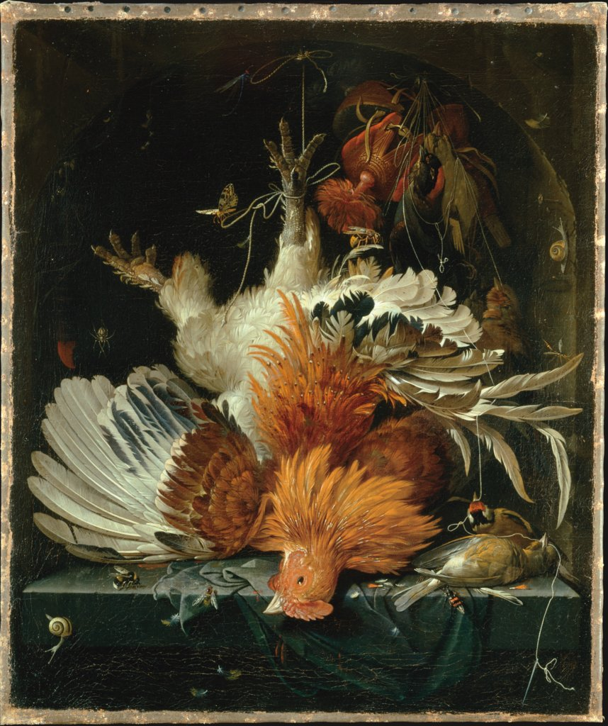 Still Life with Dead Poultry, Abraham Mignon