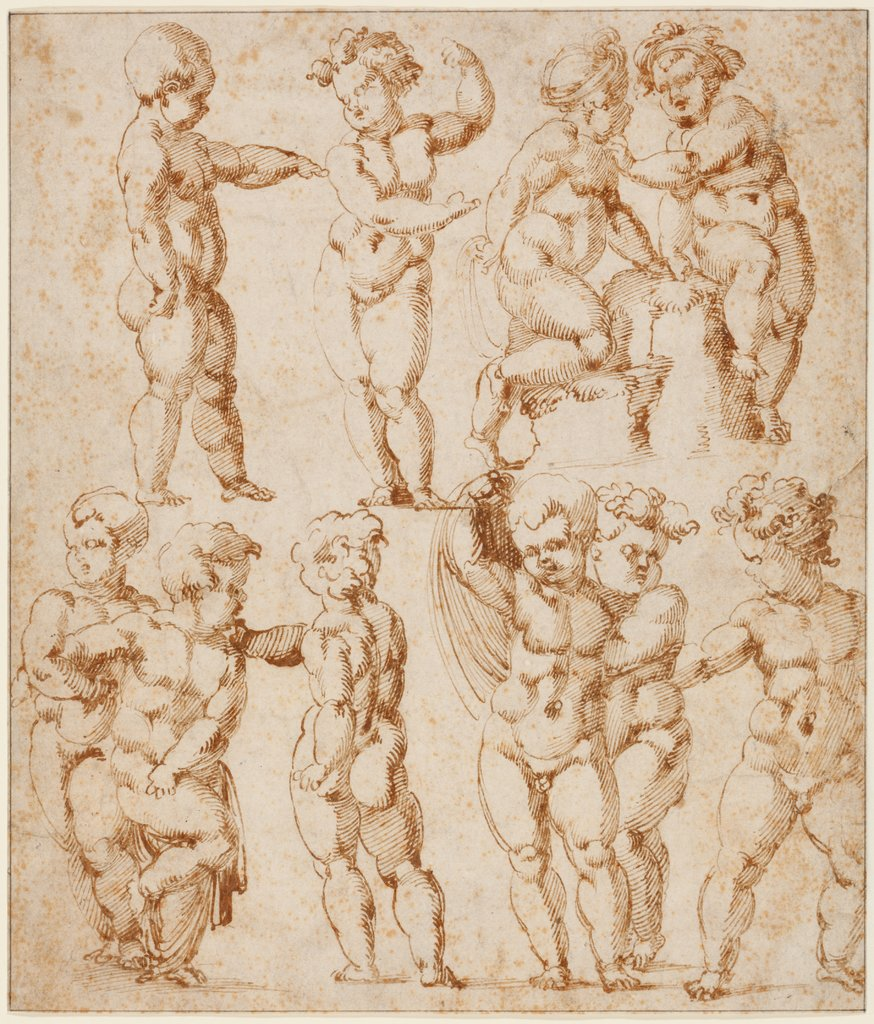 Studies of Children (Studies after a Mannequin), Baccio Bandinelli