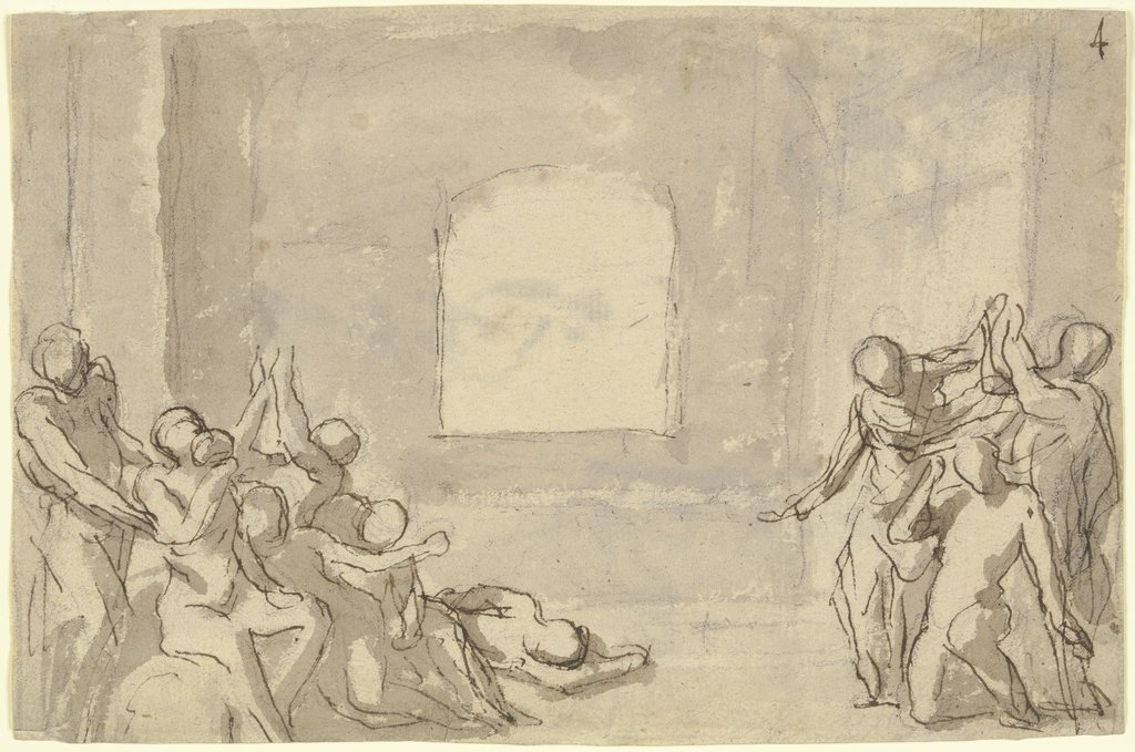 The death of Socrates, Nicolas Poussin  Umkreis