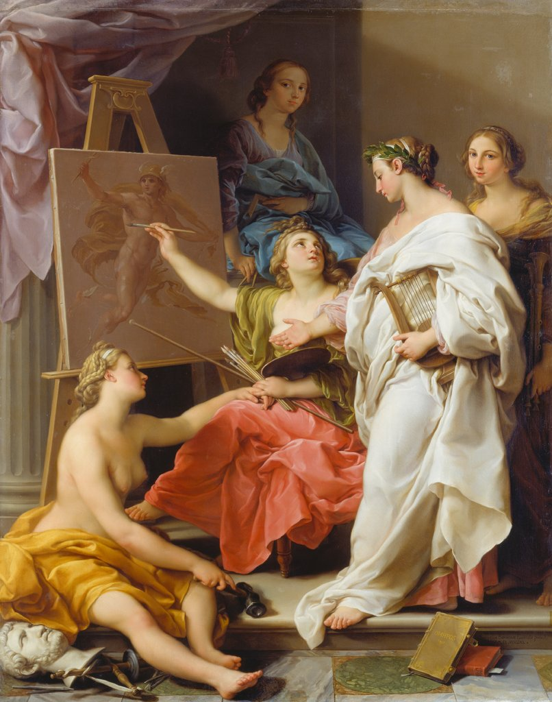 Allegory of the Arts, Pompeo Girolamo Batoni