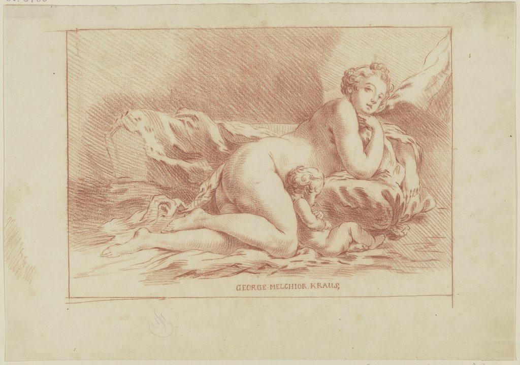 Venus and Cupid, Georg Melchior Kraus, after Gilles Demarteau, after François Boucher