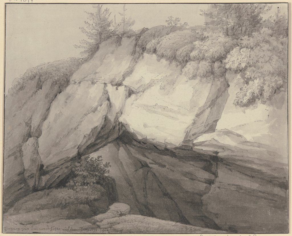 Rockcave in the mountains, Christian Georg Schütz