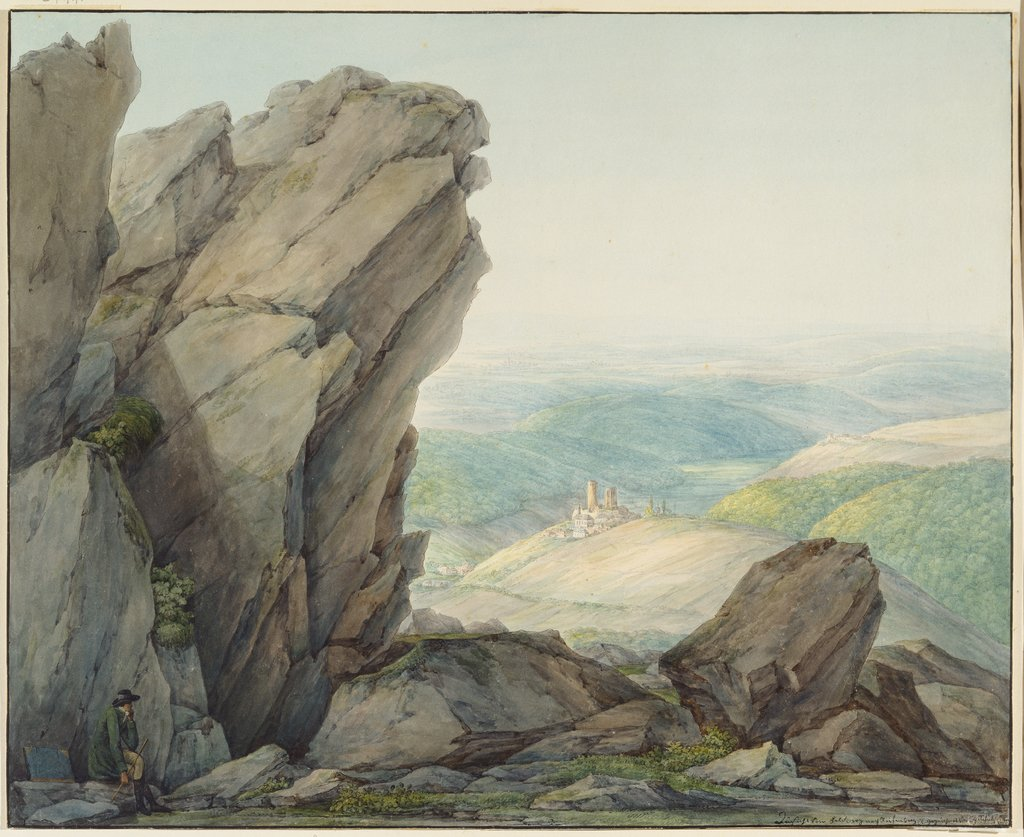 View from the Feldberg (Taunus) to Reifenberg, Christian Georg Schütz