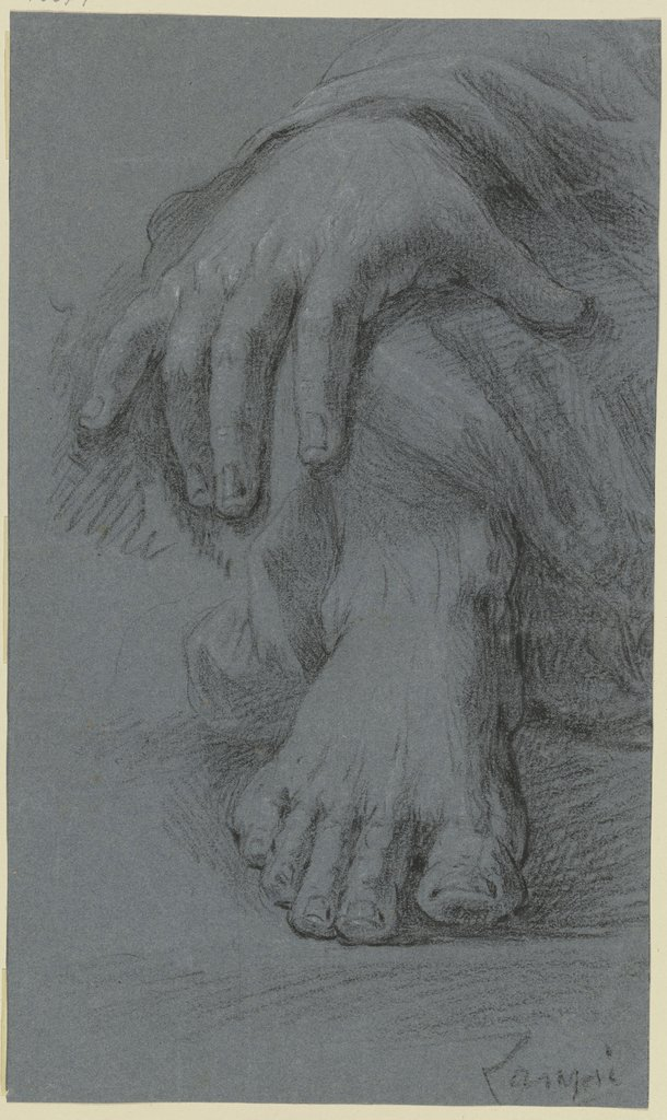 Sketch of hand and foot, Johann Baptist von Lampi the Elder