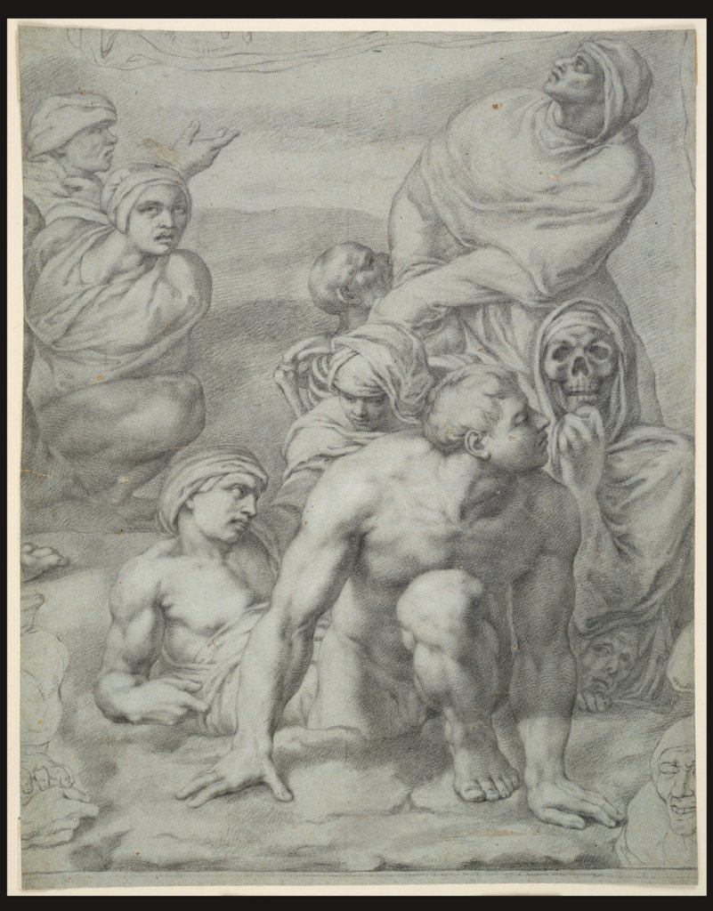 "Group of Risen Dead from Michelangelo's ""Last Judgement"", Anton Raphael Mengs, nach Michelangelo Buonarroti"